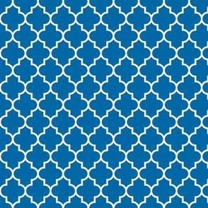 quatrefoil MED royal blue
