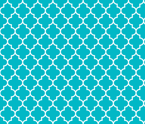 quatrefoil MED surfer blue fabric by misstiina on Spoonflower - custom fabric