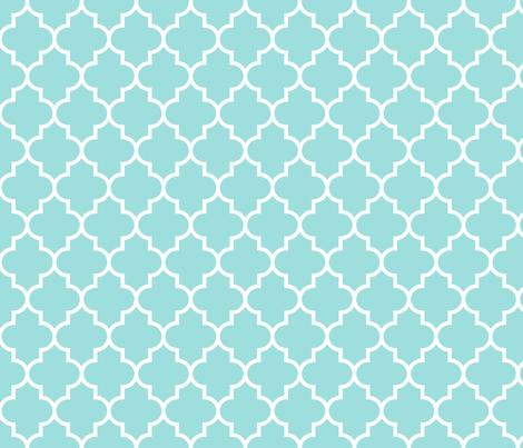 quatrefoil MED light teal fabric by misstiina on Spoonflower - custom fabric