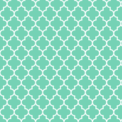 quatrefoil MED sea foam green