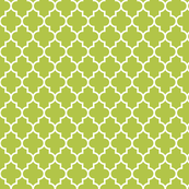 quatrefoil MED lime green
