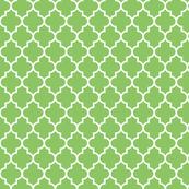 quatrefoil MED apple green