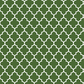 quatrefoil MED hunter green
