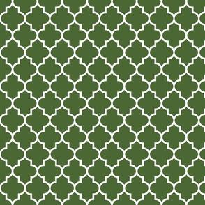 quatrefoil MED hunter green