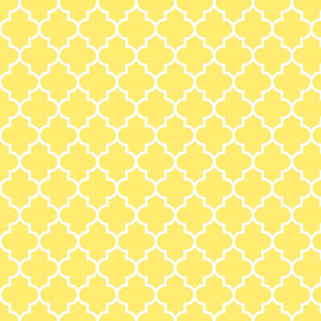 quatrefoil MED lemon yellow