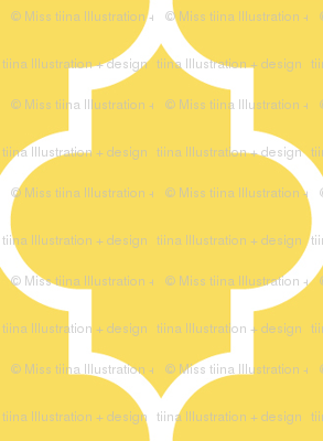 quatrefoil MED butter yellow