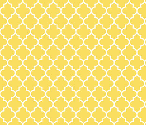 quatrefoil MED butter yellow fabric by misstiina on Spoonflower - custom fabric
