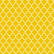 quatrefoil MED mustard yellow