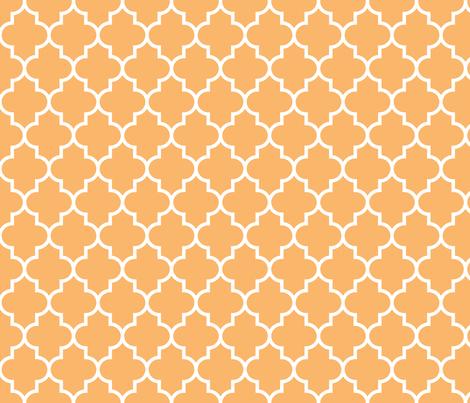 quatrefoil MED mango fabric by misstiina on Spoonflower - custom fabric