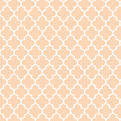 quatrefoil MED creamy peach
