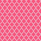 quatrefoil MED hot pink
