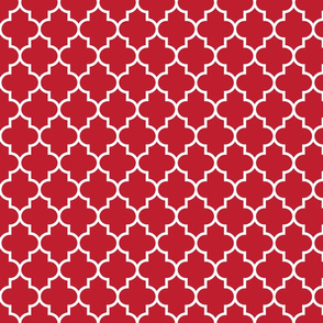 quatrefoil MED red
