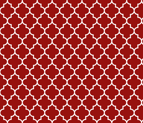 quatrefoil MED dark red fabric by misstiina on Spoonflower - custom fabric