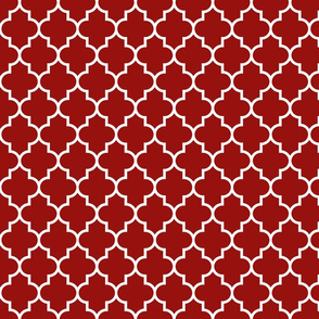 quatrefoil MED dark red