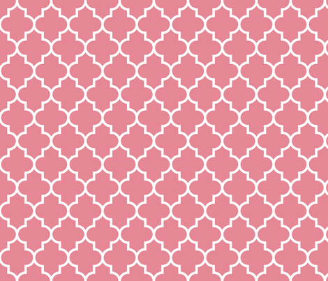 quatrefoil MED berry cream fabric by misstiina on Spoonflower - custom fabric