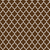 quatrefoil MED brown