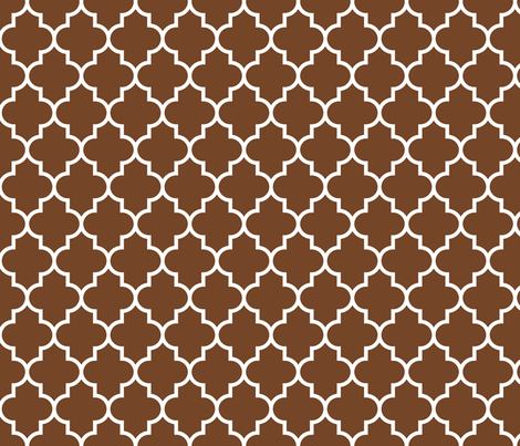 quatrefoil MED chocolate brown fabric by misstiina on Spoonflower - custom fabric
