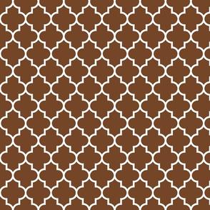 quatrefoil MED chocolate brown