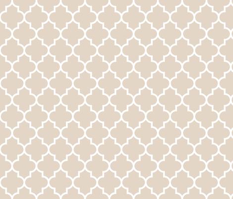quatrefoil MED sand fabric by misstiina on Spoonflower - custom fabric