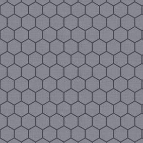 Honeycomb Dark Lines on Mid Grey