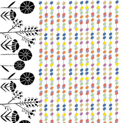 Mid Century Modern Border Fabric By Sarah_price On Spoonflower   Custom  Fabric