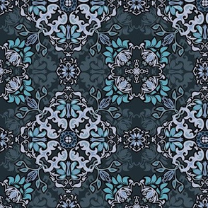 Seamless abstract floral pattern design
