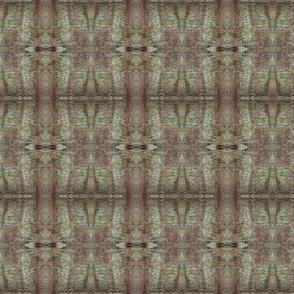 green brown wet felt mirrored