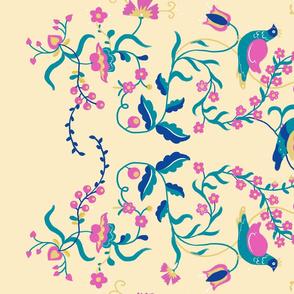 Nightless Garden border print