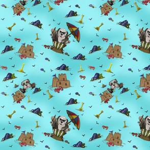 Beach Sheepies in Aqua