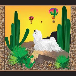"""Maltese Cactus  42x36"""""""