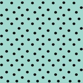 Boho Dots | Minty Blue/Green and Black