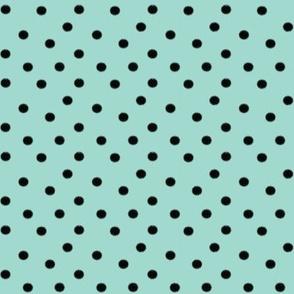 Boho Dots | Mint Green and Black