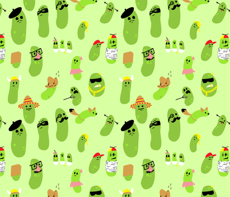 Disguised Pickles fabric by handmade3d on Spoonflower - custom fabric