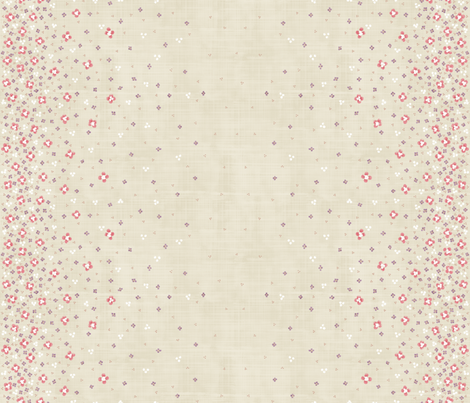 CASCADE de Fleurs fabric by un_temps_de_coton on Spoonflower - custom fabric