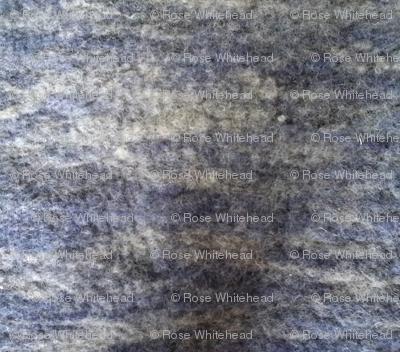 Indigo dyed/natural gray felt mirrored