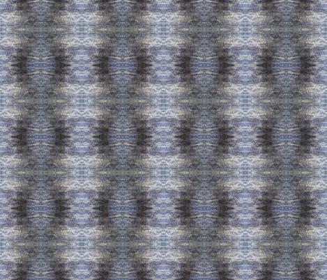 Indigo dyed/natural gray felt mirrored  fabric by rosefiber on Spoonflower - custom fabric