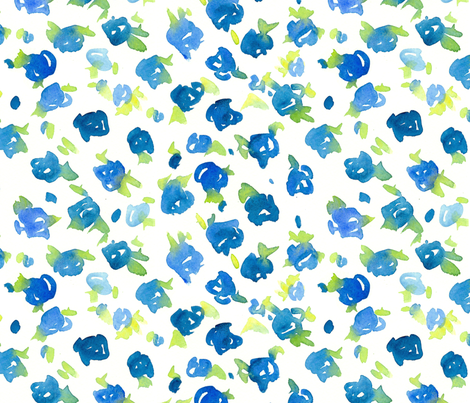 Provence Blue Floral fabric by countrygarden on Spoonflower - custom fabric