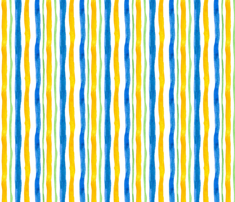 Provence Stripe fabric by countrygarden on Spoonflower - custom fabric