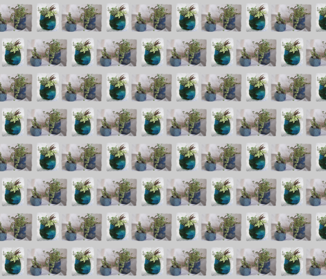 3 blue felt planters fabric by rosefiber on Spoonflower - custom fabric