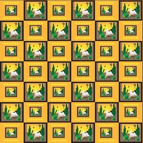 Maltese Cactus Tiling Southwestern Pattern