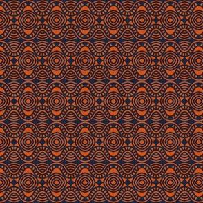 Casino Tables and Floor Orange Navy