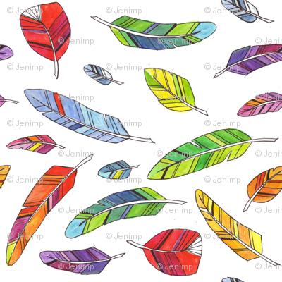 Spike's Feathers Across