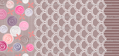 Amazing Lace border print