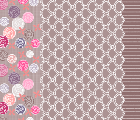 Amazing Lace border print fabric by mrshervi on Spoonflower - custom fabric