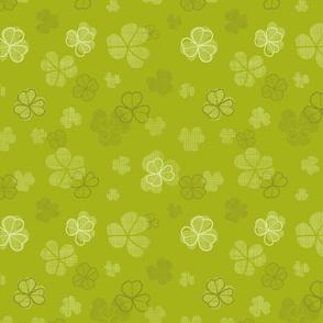 Green clover textile texture