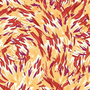 Fire paint brush strokes seamless pattern
