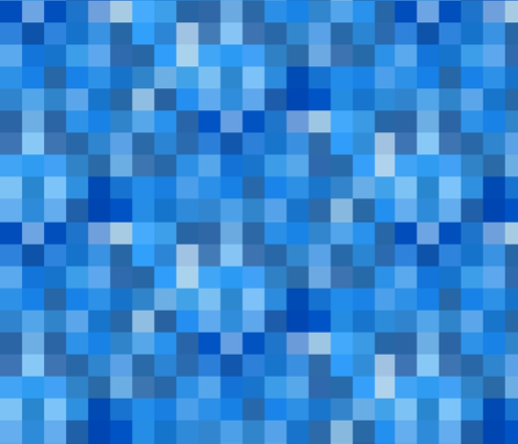 Pixel Party / Blue fabric by willowlanetextiles on Spoonflower - custom fabric