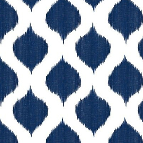 Small Scale Lela Ikat in Navy
