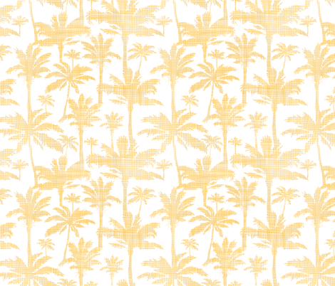 Palm trees golden textile seamless pattern giftwrap ...