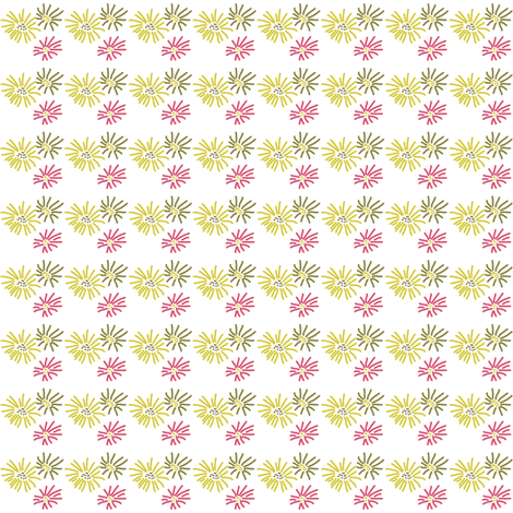 Decorated Nails Bright Flowers fabric by anniedeb on Spoonflower - custom fabric